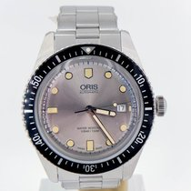 Oris Divers Sixty Five Silver 42mm On Bracelet Box And Booklet