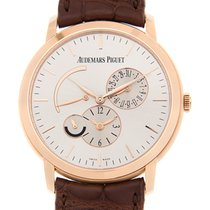 愛彼 Jules Audemars 18k Rose Gold Silver Automatic 26380OR.OO.D0...