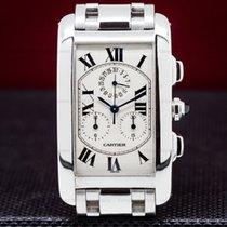 Cartier W26033L1 Tank Americaine Chronograph 18K White Gold /...