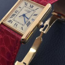 e56f0fa8e1f Cartier Tank vermeil QZ Big Model 26x34mm