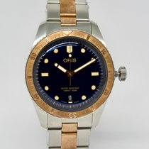 Oris Bronze Automatic Blue No numerals 40mm pre-owned Divers Sixty Five