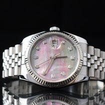 Rolex Datejust Zeljezo 36mm Sedef-biserast
