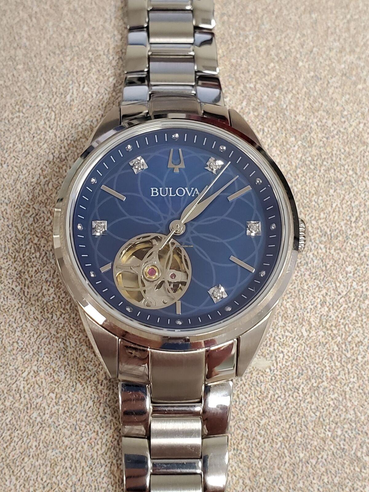 96p191 Für Blue Movement Sutton Watch Bulova Automatic Dial Ladies 0w8nOPk