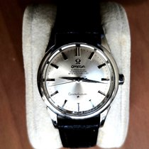 Omega Constellation pre-owned Calf skin
