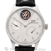 IWC Platinum Automatic Silver Arabic numerals 44.2mm pre-owned Portuguese Tourbillon