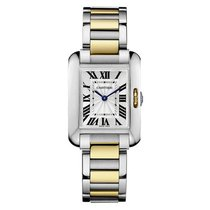 Cartier Tank Anglaise   Steel & Gold Quartz Sliver Dial  ...