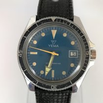 Yes Watch YEMA DIVER SOUS MARINE cal. 140-1c blue dial...