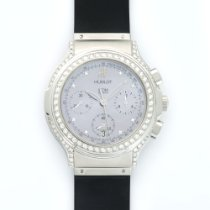 Hublot Elegant Chronograph Steel Diamond Watch