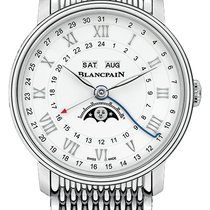 Blancpain Steel Automatic White 40mm new Villeret Moonphase