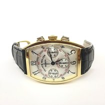 Franck Muller Yellow gold Automatic Silver Arabic numerals 35mm pre-owned Cintrée Curvex