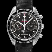 Omega Steel Automatic Black 44.25mm new Speedmaster Professional Moonwatch Moonphase