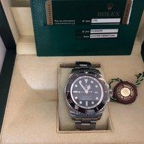Rolex Sea-Dweller Deepsea Acier 44mm Noir Sans chiffres France, VILLEVIEILLE