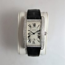 Cartier Tank Américaine White gold Silver Roman numerals United States of America, Illinois, Chicago