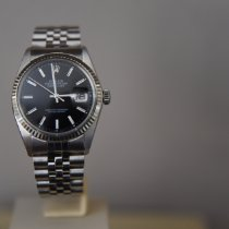 Rolex Datejust Steel 36mm Black No numerals