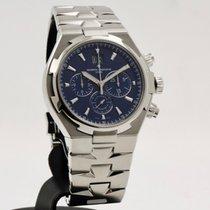 Vacheron Constantin Overseas Chronograph Staal 42mm Blauw Geen cijfers