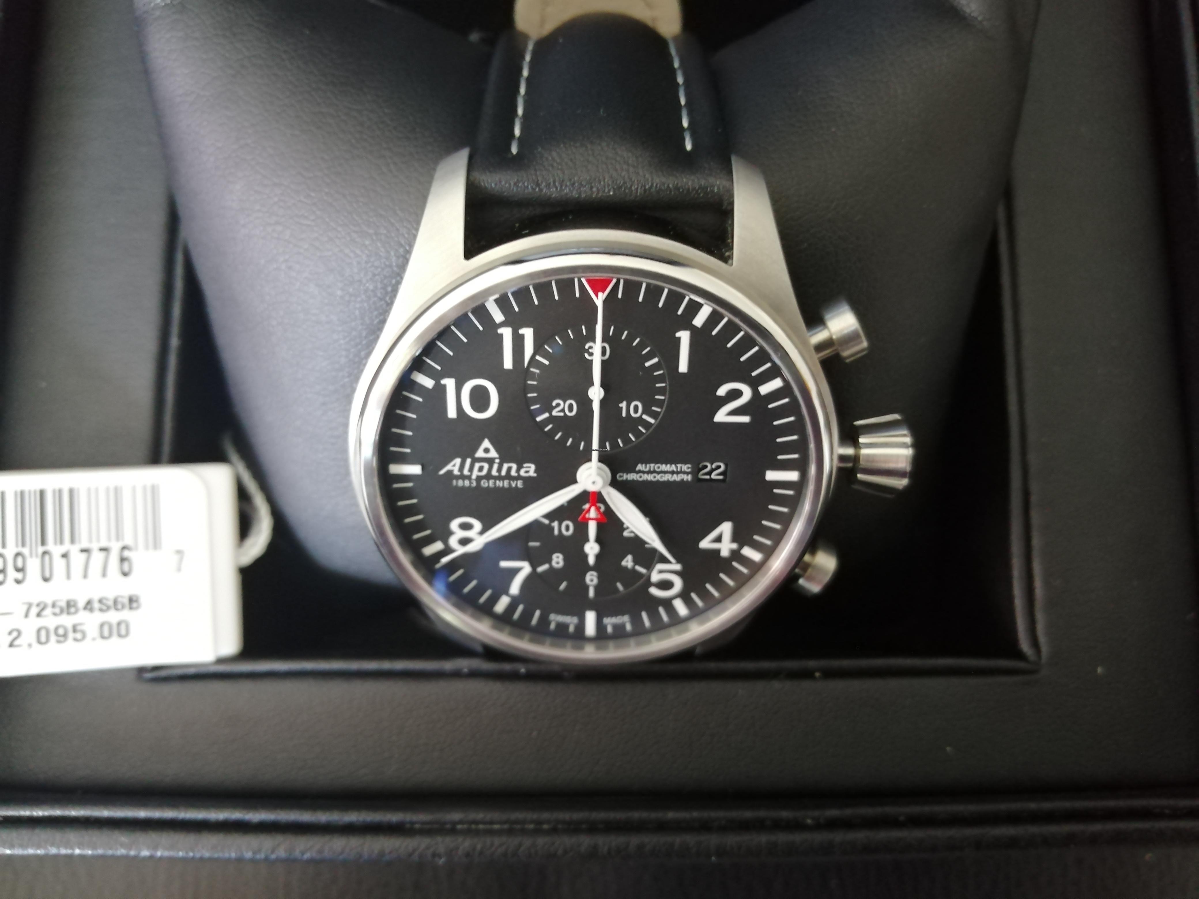 construction rationnelle dessin de mode nouvelles images de Alpina Startimer Pilot Chronograph 2019 à vendre pour 1.129 ...