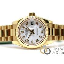 Rolex Lady-Datejust Or jaune 26mm Blanc Arabes