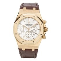 Audemars Piguet Red gold Automatic Silver 41mm pre-owned Royal Oak Chronograph