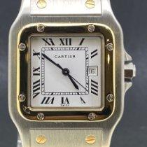Cartier Santos Galbée Gold/Stahl 29mm Weiß Römisch