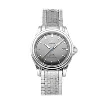 Omega De Ville Co-Axial pre-owned 37.5mm Grey Date Fold clasp