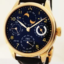 IWC Red gold Automatic pre-owned Portuguese Perpetual Calendar