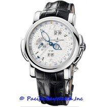Ulysse Nardin pre-owned Automatic 42mm Silver Sapphire crystal 3 ATM