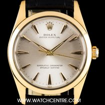 Rolex Gold Capped Steel Silver Dial Oyster Perpetual Vintage 1014