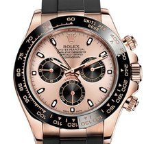 Rolex Cosmograph Daytona Rose Gold Pink Dial Caucciu'...