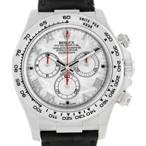 Rolex Cosmograph Daytona White Gold Meteorite Dial Mens Watch...