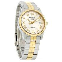 Tissot Pr 100 Mens Two Tone Silver Dial Watch T049.410.22.033.00