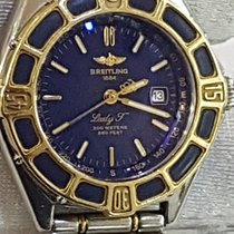 Breitling Lady J Quartz Bracelet Steel/Gold Dial Blue Top...