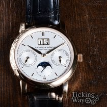 A. Lange & Söhne Rose gold Automatic Silver 38.5mm pre-owned Saxonia