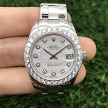 Rolex Lady-Datejust Pearlmaster Oro blanco 34mm Gris