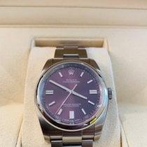 Rolex Oyster Perpetual 36 Stahl 36mm Violett Arabisch