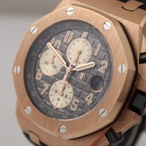 Audemars Piguet Red gold Automatic Grey Arabic numerals 44mm pre-owned Royal Oak Offshore Chronograph