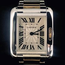 Cartier Tank Anglaise Goud/Staal 22.7mm Zilver Romeins