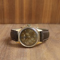 Heuer Yellow gold Manual winding Bronze No numerals 35mm pre-owned