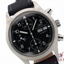 IWC Pilot Chronograph Steel 39mm Black Arabic numerals