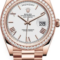 Rolex Day-Date 40 Rose gold 40mm White United States of America, New York, Airmont