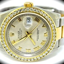 Rolex Datejust pre-owned 36mm White Date Gold/Steel
