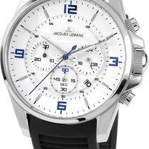 Jacques Lemans Steel 44mm Quartz 1-1799B new