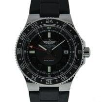 Breitling Superocean GMT Steel 41mm Black