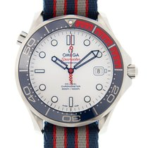 Omega Seamaster Stainless Steel White Automatic 212.32.41.20.0...