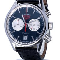 TAG Heuer Carrera Chronograph Calibre 17 Blue Dial 41 mm (Full...