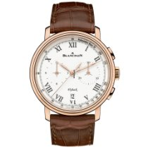 Blancpain Rose gold Automatic White Roman numerals 43.6mm new Villeret