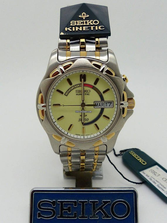 Seiko kinetic 5m43 0a50 ref skj024 luminous dial for 389 for sale from a seller on chrono24 for Jaeger lecoultre kinetic