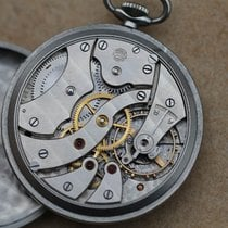 IWC Pocket watch IWC cal 67 black dial WWII Vintage military