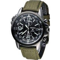 Seiko SSC295P1 Prospex Men's Solar Military Alarm Chronograph...