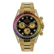 Rolex DAYTONA Rainbow 18K Yellow Gold Black Dial 116589RBOW