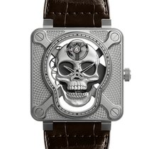 Bell & Ross BR 01 new 2019 Automatic Watch with original box and original papers BR01-SKULL-SK-ST